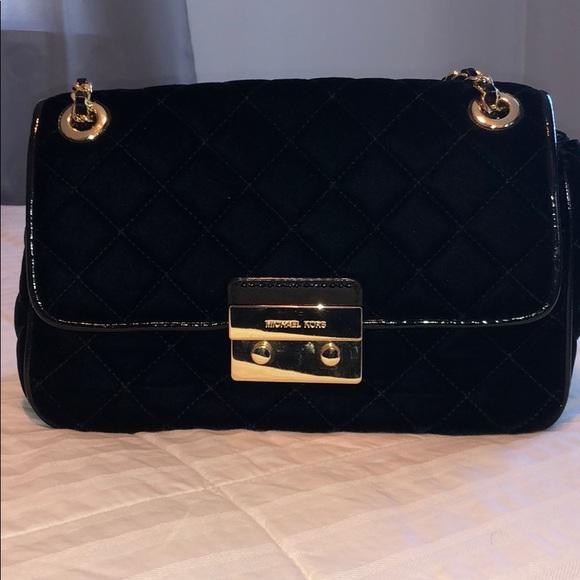 c532738b0644 Michael Kors Bags | Sloan Shoulder Bag Black Velvet | Poshmark